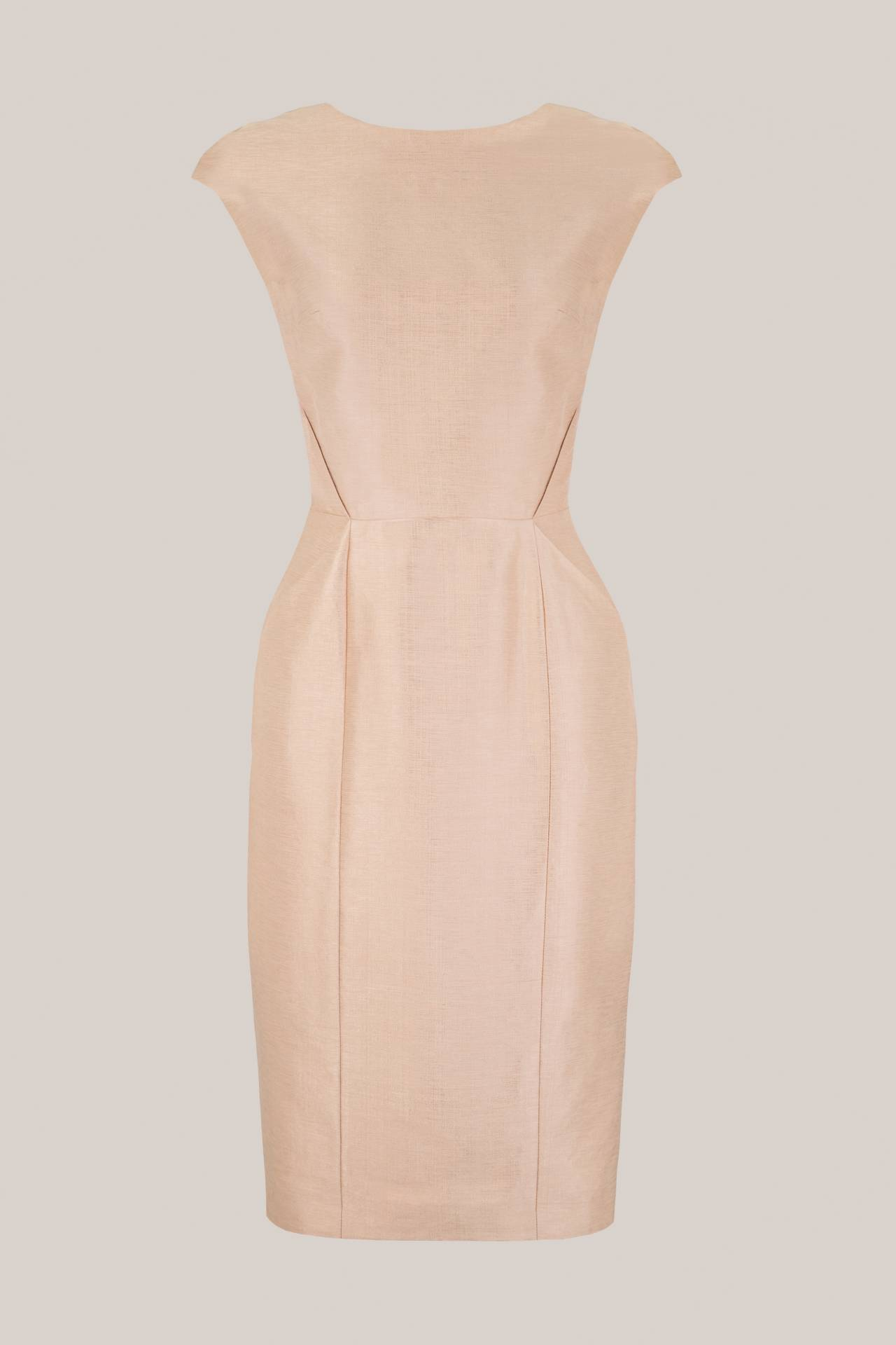 Shift Silk Dress Faye in Metallic Copper