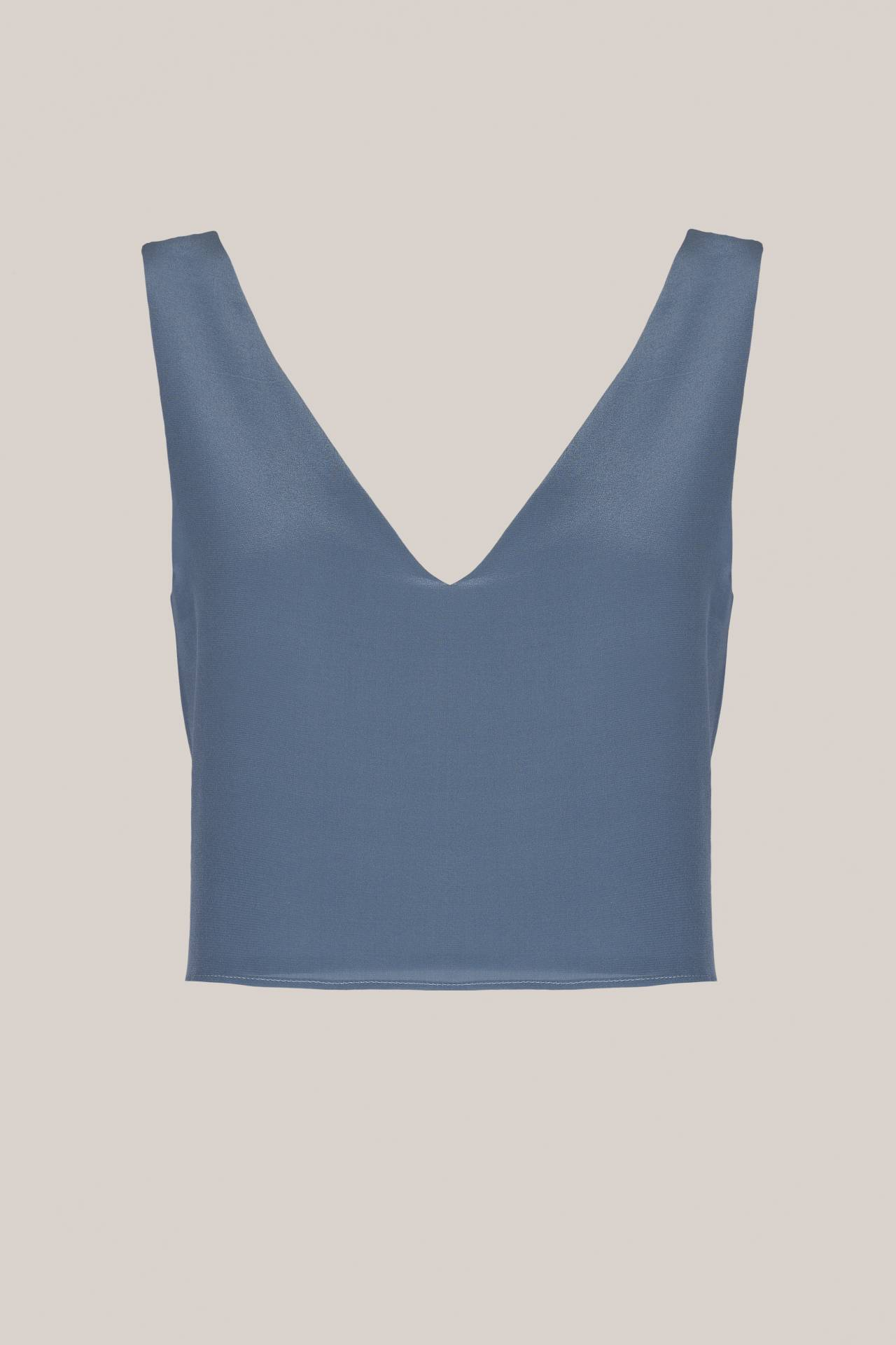 Gloria Top Dove Blue Vorderansicht