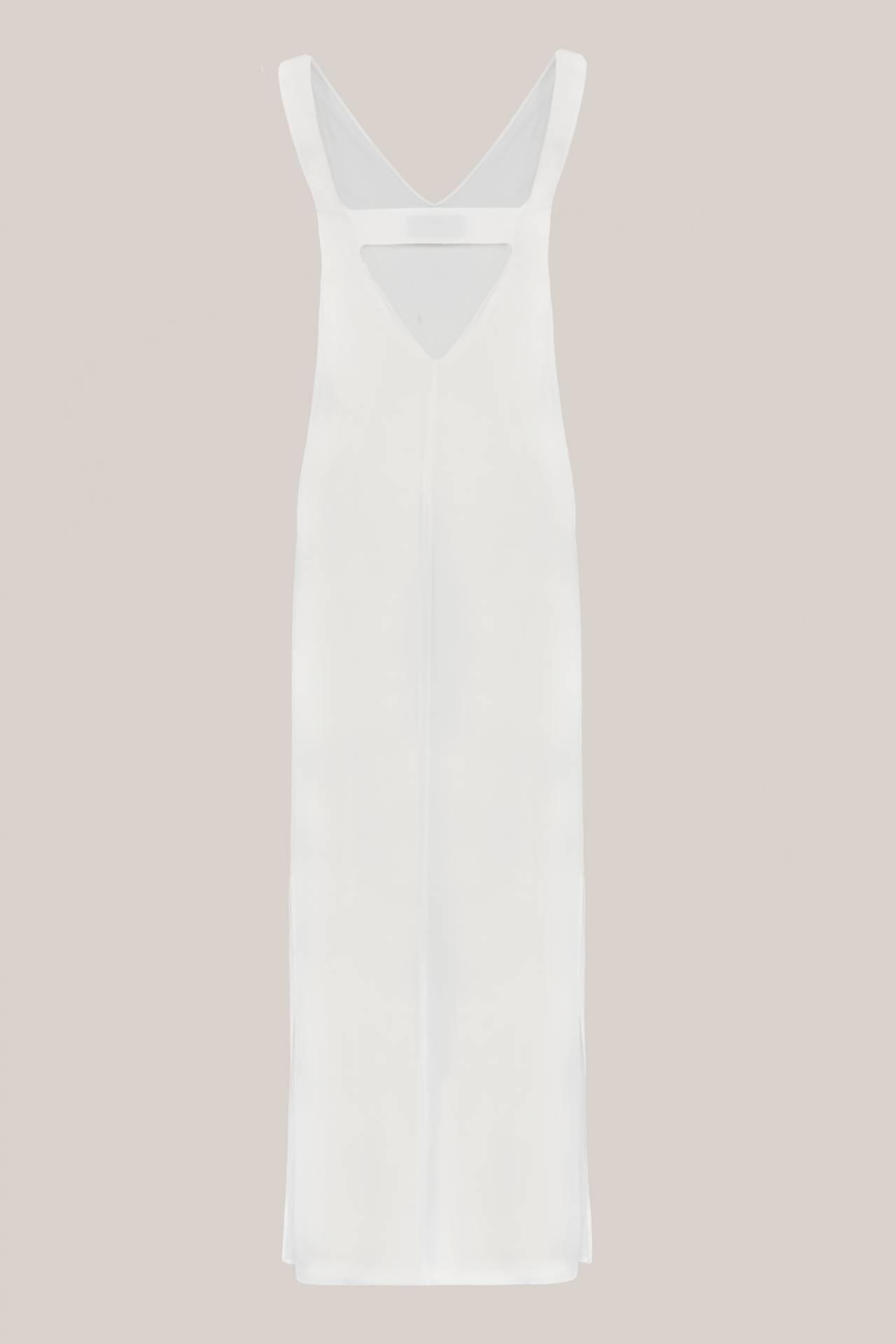 Gloria Seidenkleid Weiß Rückansicht