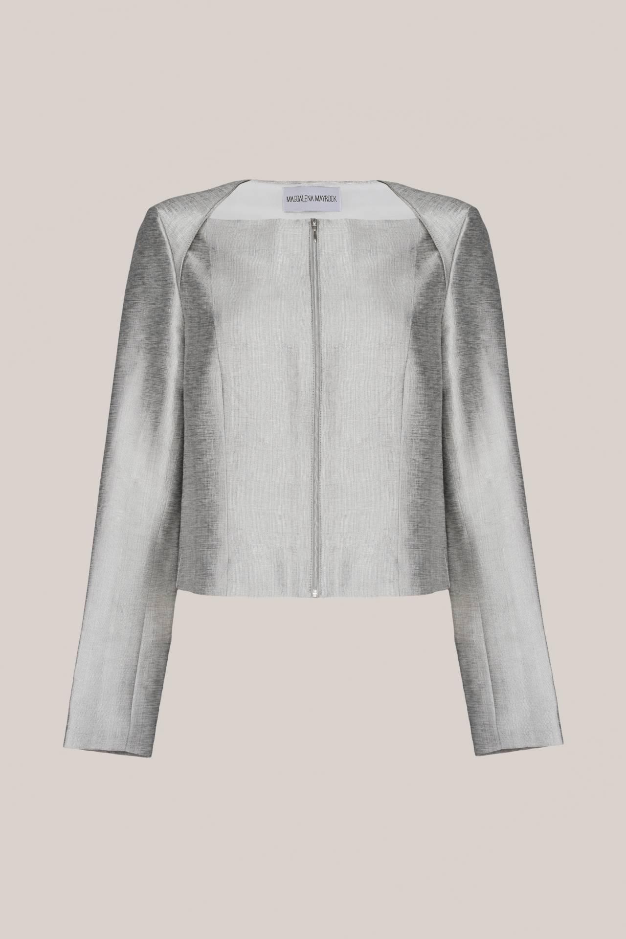Tilda Jacket Silver Vorderansicht