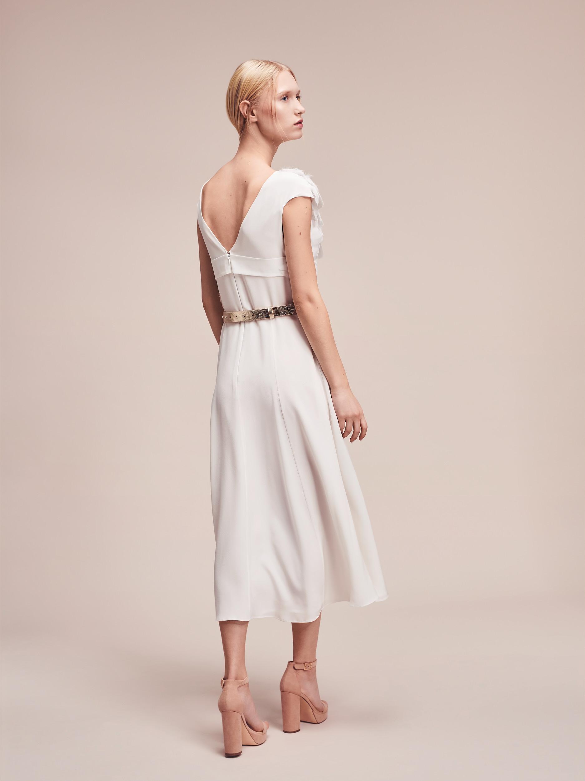 Kurzes Designer Brautkleid aus Seide Magdalena Mayrock Berlin