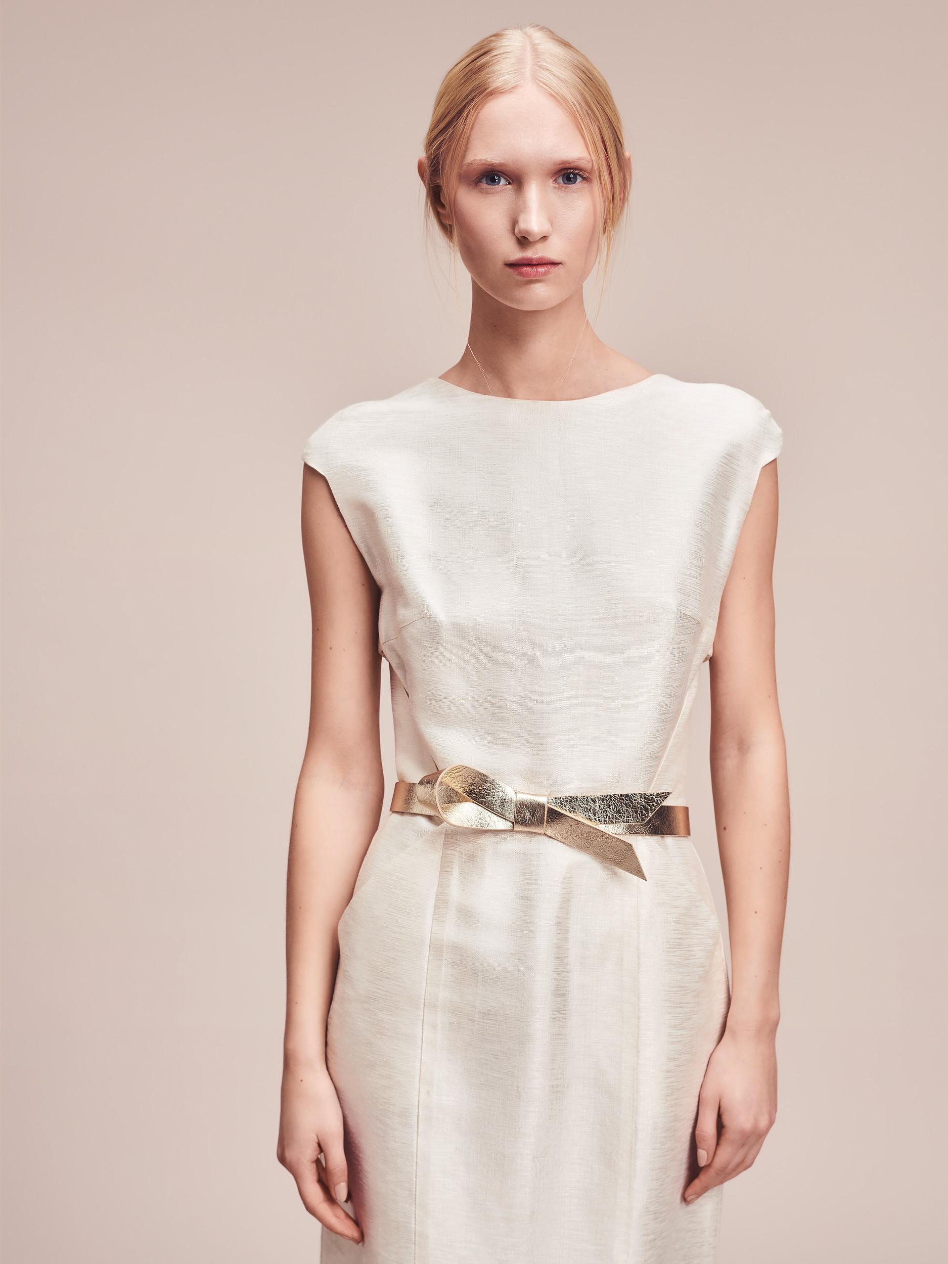 Short Plissée Designer Bridal Dress Luise by Magdalena Mayrock Berlin