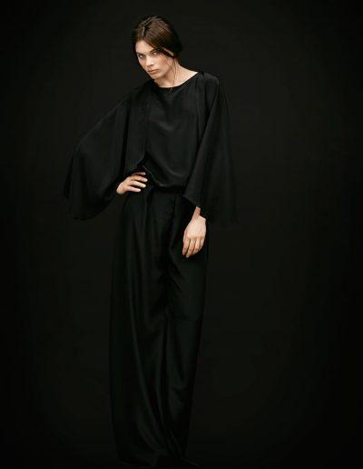 Black Designer Silk Jumpsuit Lou Magdalena Mayrock Berlin