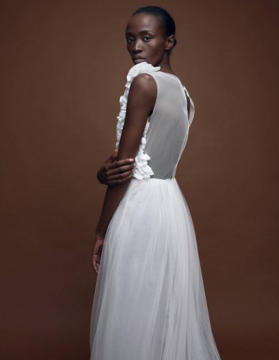 Bridal Coture Tulle Dress with Embroidery by Magdalena Mayrock Berlin