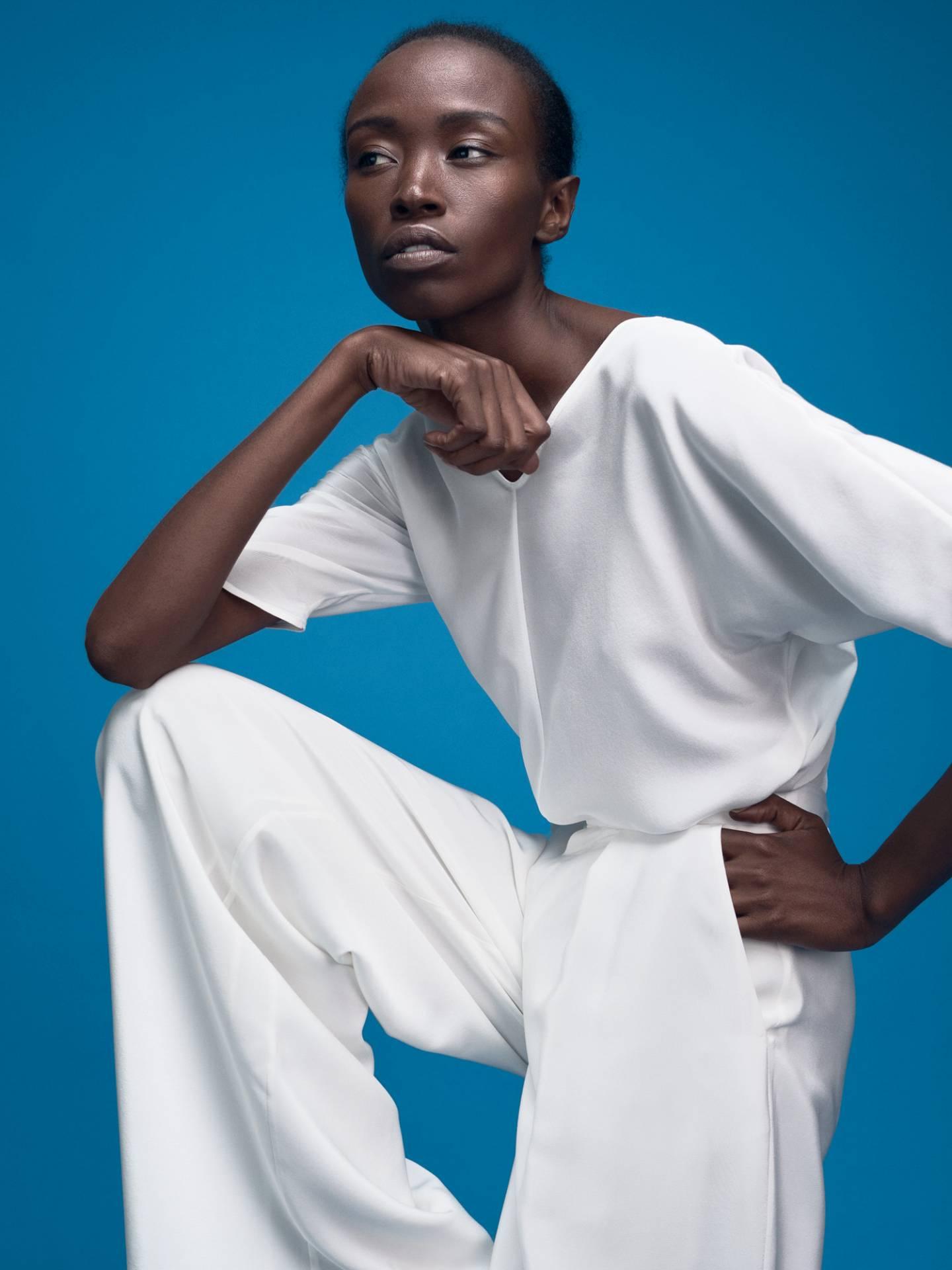 Designer Bridal Silk Shirt Victoria and Marlene Trousers by Magdalena Mayrock