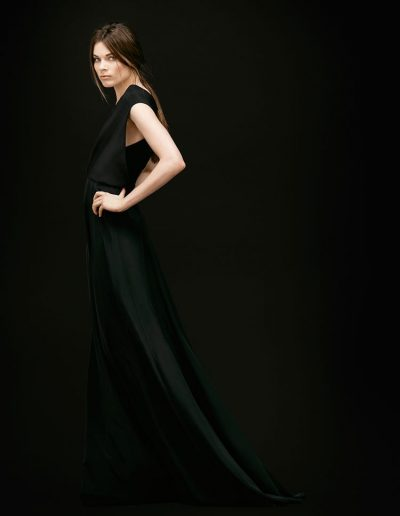 Schwarzes Designer Abendkleid aus Seide Magdalena Mayrock Berlin