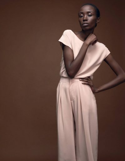 Designer Silkshirt Carla and Culotte in Blush by Magdalena Mayrock