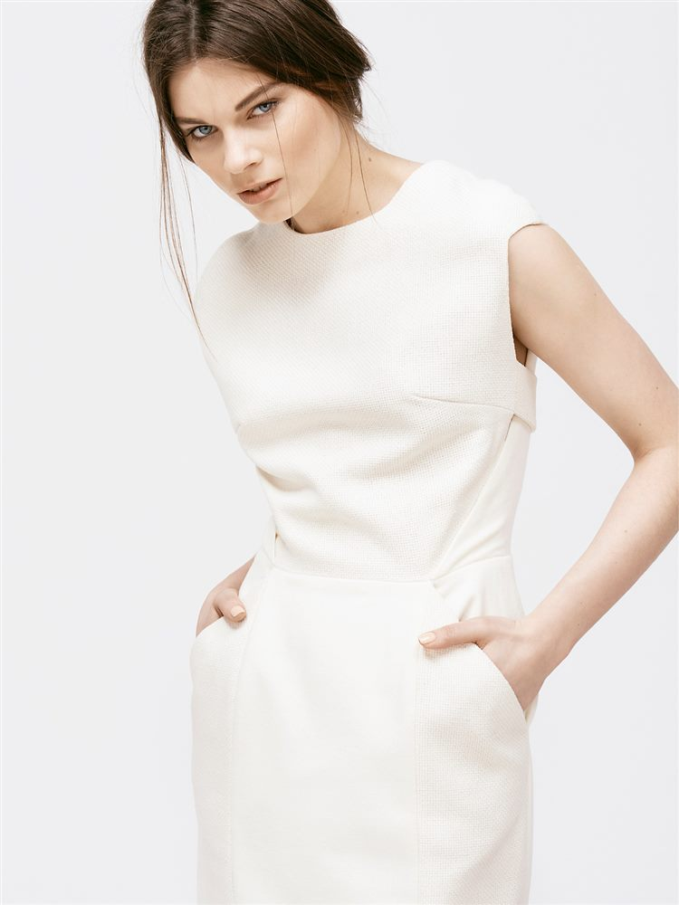 Standesamtkleid Faye Creme-Weiß Magdalena Mayrock Berlin