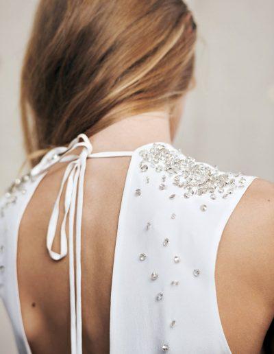Designer Brautkleid mit Swarovski Elements Schulter Detail