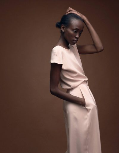 Wedding Guest Silk Ensemble in Blush by Magdalena Mayrock