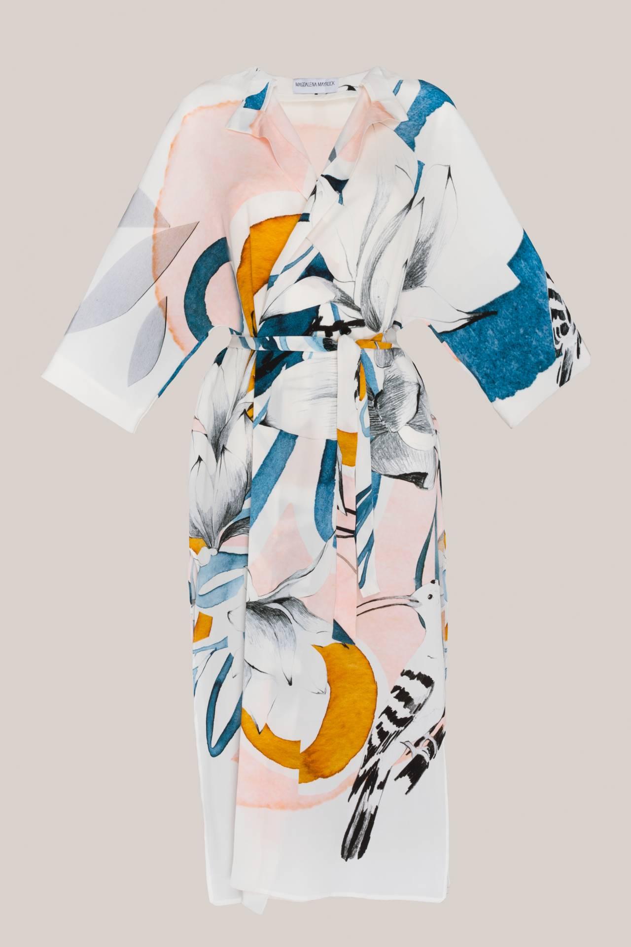Seidenkimono mit Print von Ekaterina Koroleva