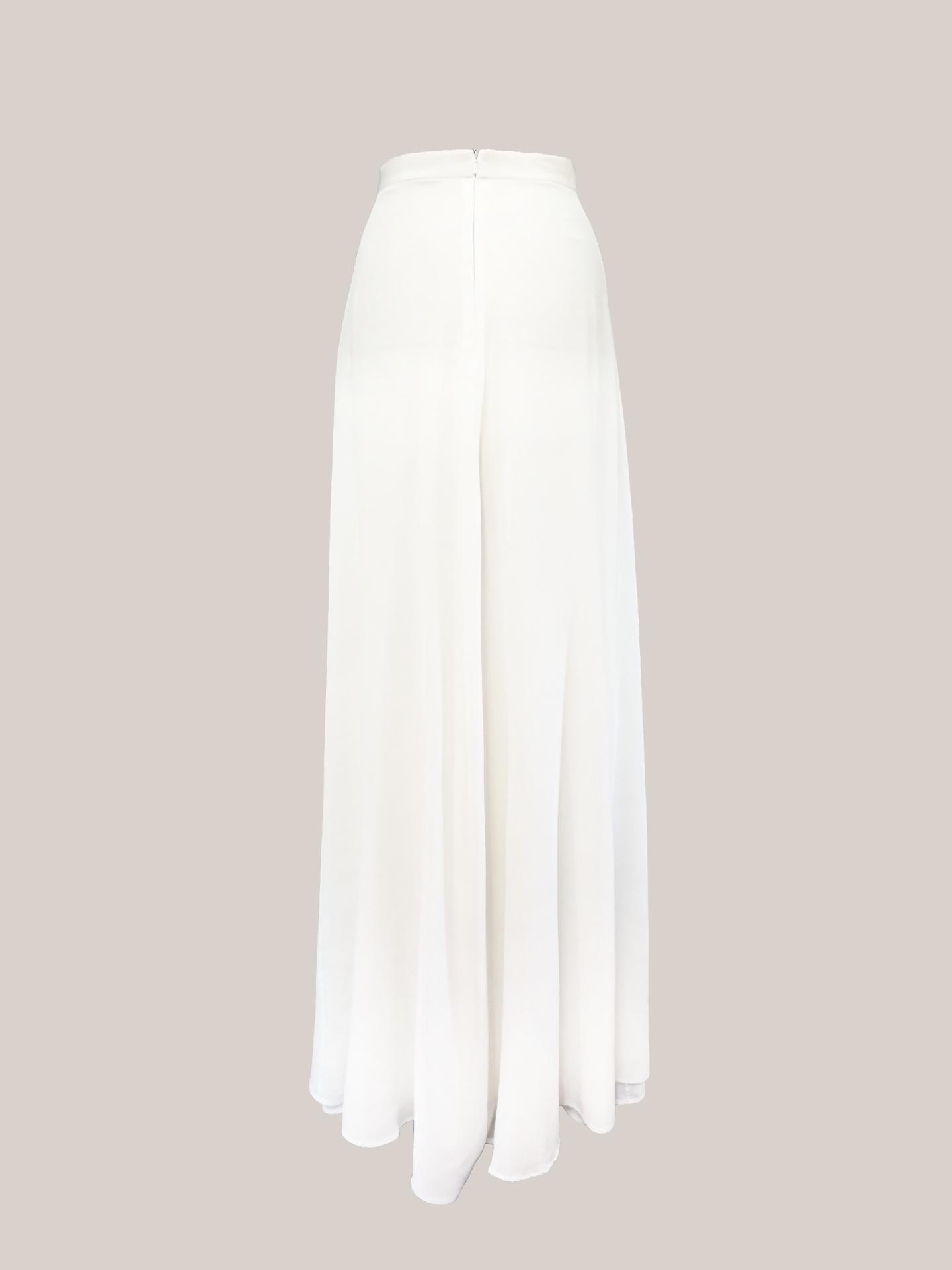 Bridal Skirt Back View