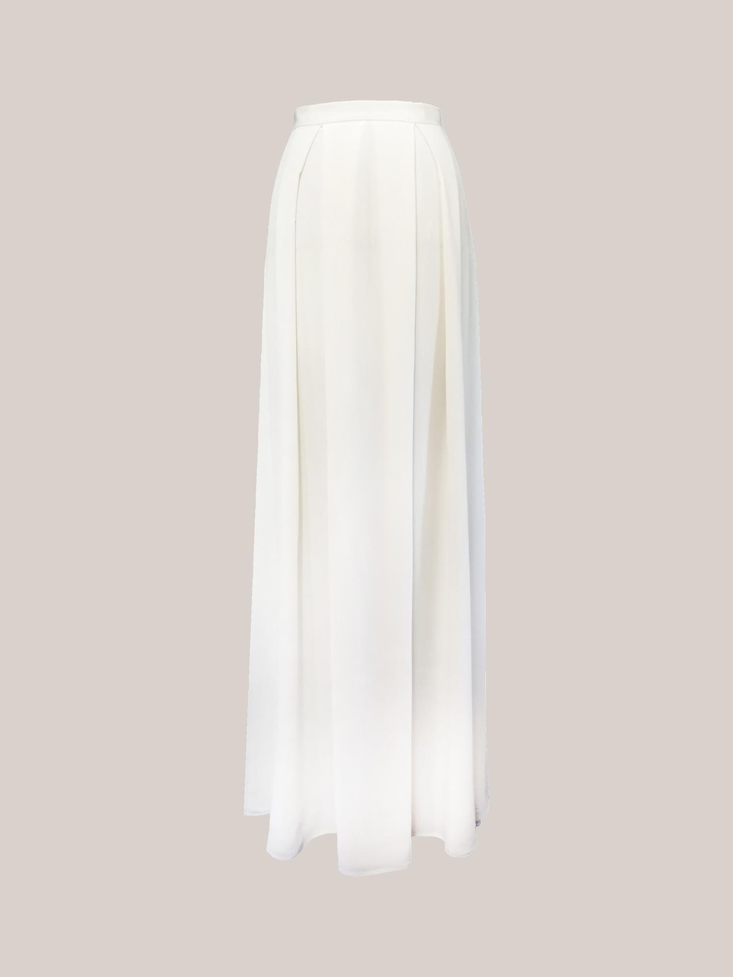 Bridal Silk Skirt Grace Skirt Front View