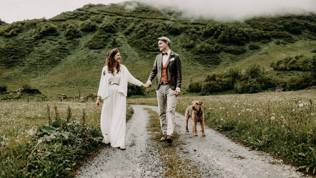 Brautpaar Hochzeit in den Bergen