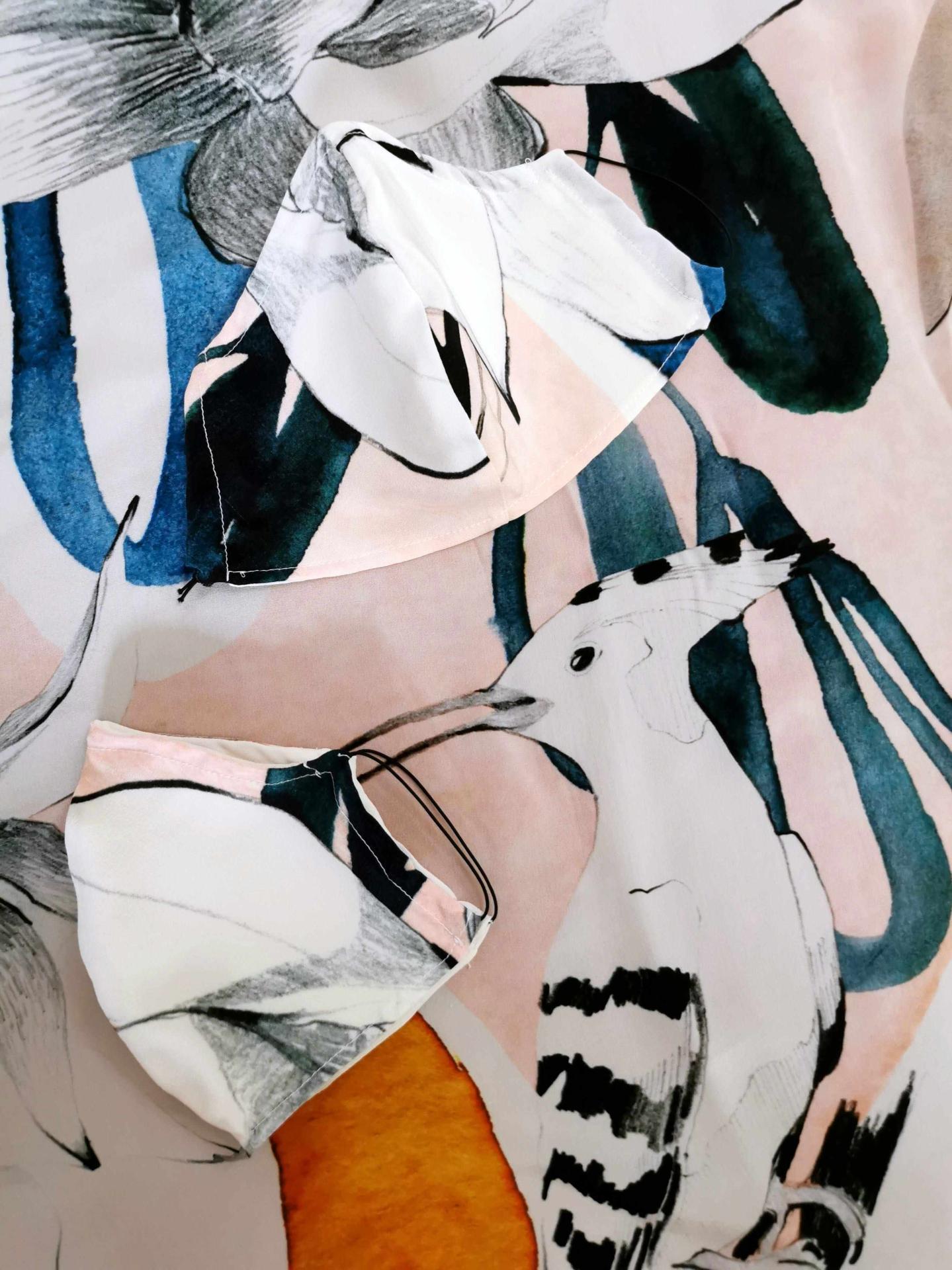Seidenmasken illustriert von Ekaterina Koroleva