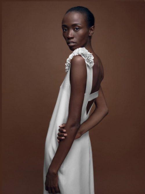 Designer Hochzeitskleid mit tiefem Rückenausschnitt