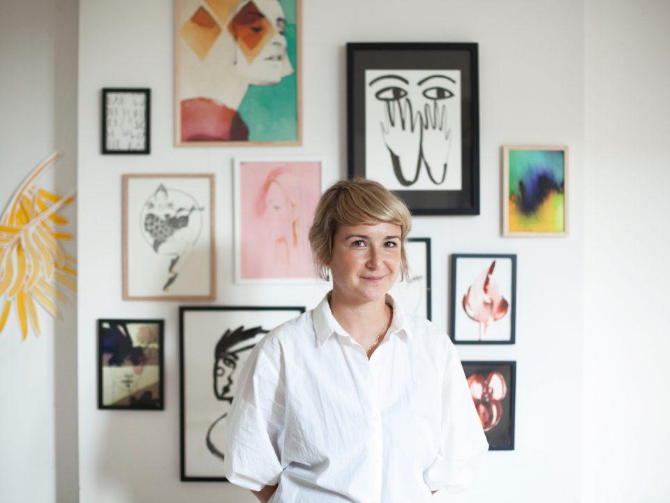 Ekaterina Koroleva in her Berlin Studio